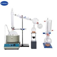 лучшая цена Laboratory  Equipment 10L Short Path Distillation With Stirring Heating Mantle Include Cold trap For Purification Of Plant Hemp