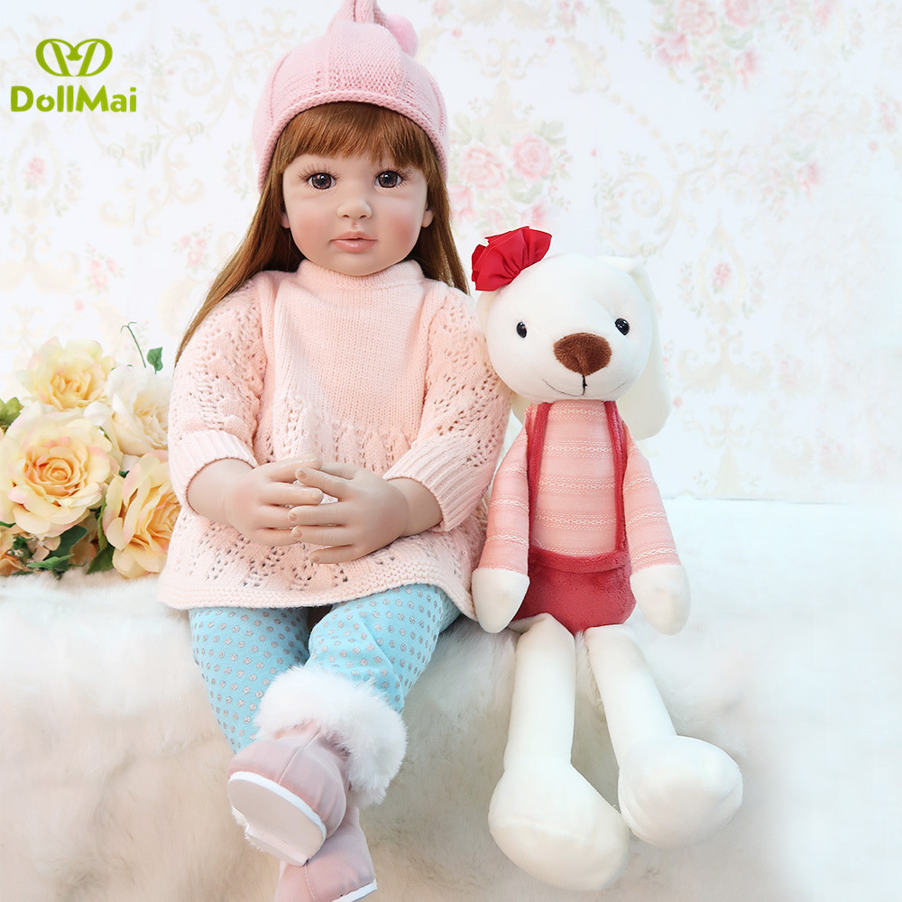 60cm Silicone Reborn Baby Doll Kids Playmate Gift for Girls Baby Alive Soft Toys for Bouquets Doll Bebes Reborn Toys 60cm Silicone Reborn Baby Doll Kids Playmate Gift for Girls Baby Alive Soft Toys for Bouquets Doll Bebes Reborn Toys