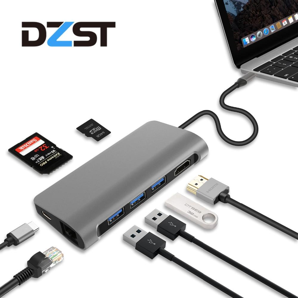 Unpara Ugreen 5 in 1 Hub Adapter USB C Hub USB Type C 3.1 TF Card SD Card Adapter Dock for MacBook