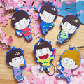 [PCMOS] 2017 New Cute Anime Mr.Osomatsu-san Characters Rubber 6pcs Set Phone Strap Charm Keychain Dust Plug Gift Craft 16061406