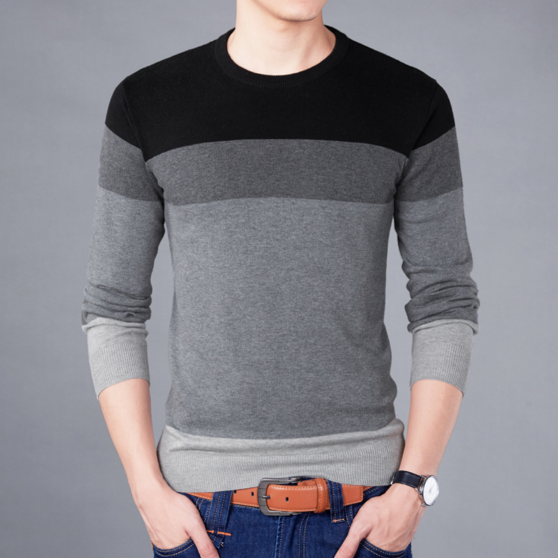 Sweater Pullover Men 2018 Male Brand Casual Slim Fight Color SimpleSweaters Men High Quality Hedging O-Neck Sweater XXXL