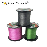Topline Tackle PE Braided Fishing Line Multifilament 4 Strands Cord Carp Fishing Lines For Saltwater 8 10 20 30 40 60 80 LB