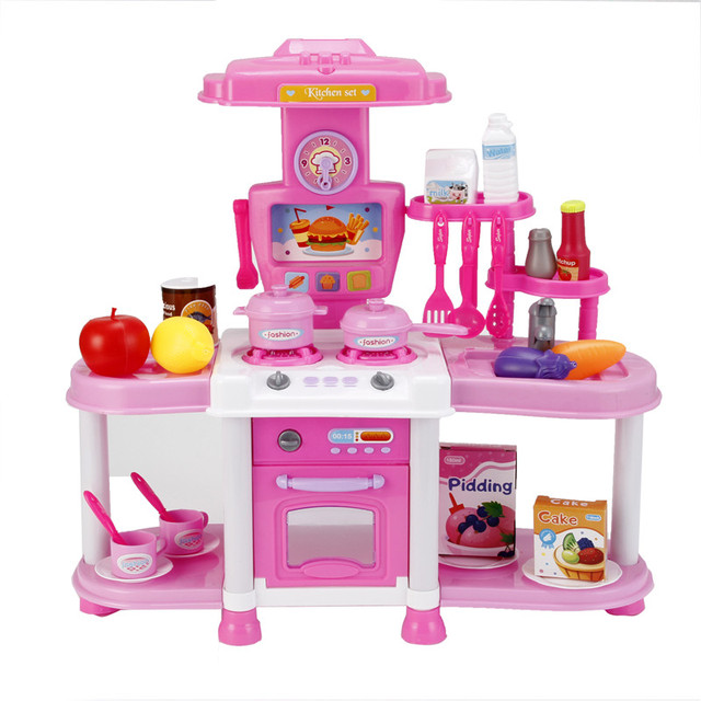 Bargain Price Kitchen Toy Set Kids Simulation Kitchen Toys Baby Kitchen Toys Set With Light Sound Red Baby Pretend Play Gifts Kitchen Toy Set Pretend Playbaby Kitchen Aliexpress