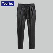 Women Faux Leather Pants & Capris PU Botton Elastic High Waist Stretch Plus Size Pencil Pants Female Leggings Harem Trousers