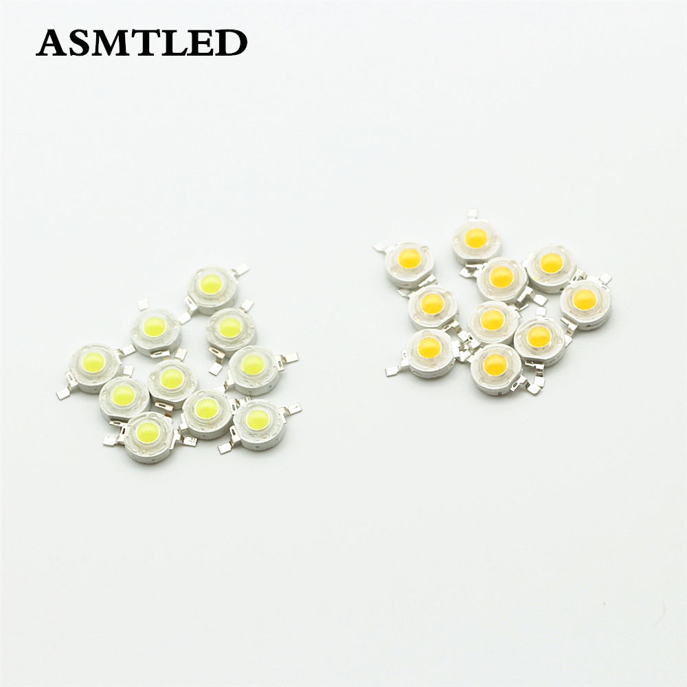 100Pcs/Lot 1W <font><b>3W</b></font> High Power <font><b>LED</b></font> Lamp Diode SMD White / Warm white <font><b>LED</b></font> Bulb Chips 30Mail 45Mail <font><b>LED</b></font> Light Chip For DIY <font><b>Spotlight</b></font> image