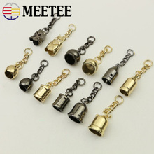 Meetee 10pcs Metal Bag Hanging Buckle Fashion Luggage Alloy Tassel Stopper Rope DIY Clothing Decoration Material BD445
