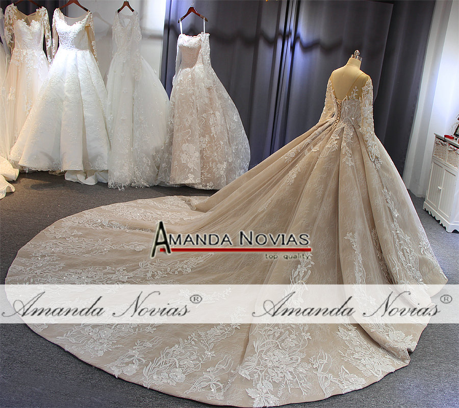 Image 5 - 2019 robe de soiree wedding dress amanda novias brand high quality luxury bridal dress custom made colorWedding Dresses   -