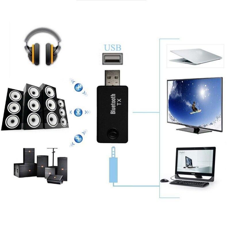 3.5 мм Беспроводной 2-в-1 USB Bluetooth Аудио Передатчик Bluetooth 4.0 Приемник Музыка Адаптер Для ТВ Mp3 PC Speaker