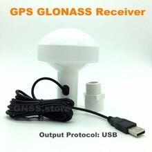 Envío libre UBLOX8 chip USB GPS GLONASS receptor de modo dual para la navegación marítima, trayectoria GPS adquisición,