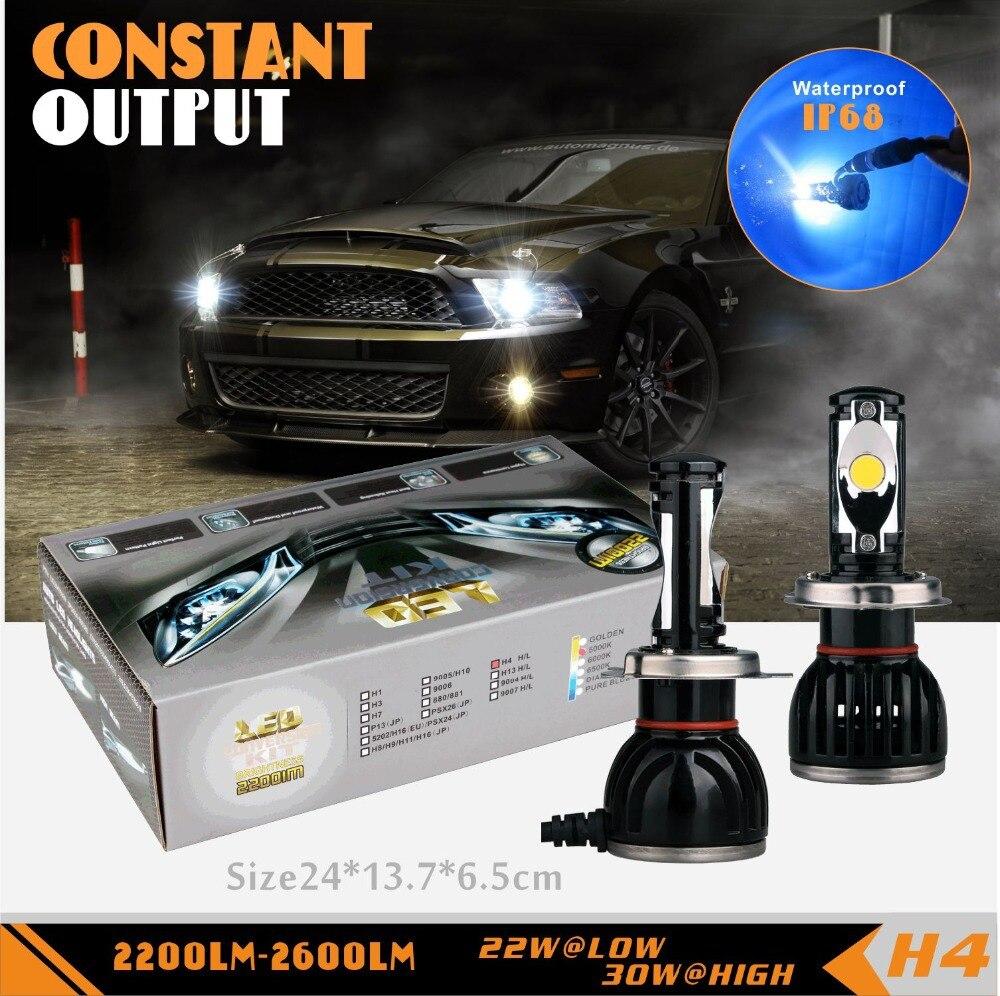 SLDX  Led Car HeadLight  Bulb 6500K 12V 22/30W for Chevrolet Equinox Tracker Metro Conversion Kit Rep HID Halogen Bulb H4