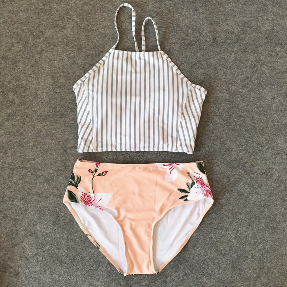 dfb1991c02a Bikinis Women Striped Swimsuit Swimwear Female 2019 New Sexy Brazilian  Bikini Set Swimming Wear Print Bathing