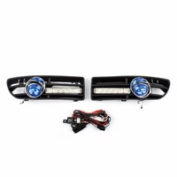 Areyourshop Car Fog Light 6LED Front Bumper Grille DRL Set For VW Jetta Bora Mk4 1999