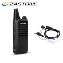 Zastone ZT-X6 Mini Walkie Talkie with Headset 400-470Mhz Frequency UHF Handheld Radios Comunicador Two Way Radio Birthday Gift