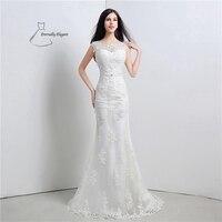 Wit Mermaid/Trompet Floor organza trouwjurk Voor Bruiloft gelegenheden met Sequineds SH0119