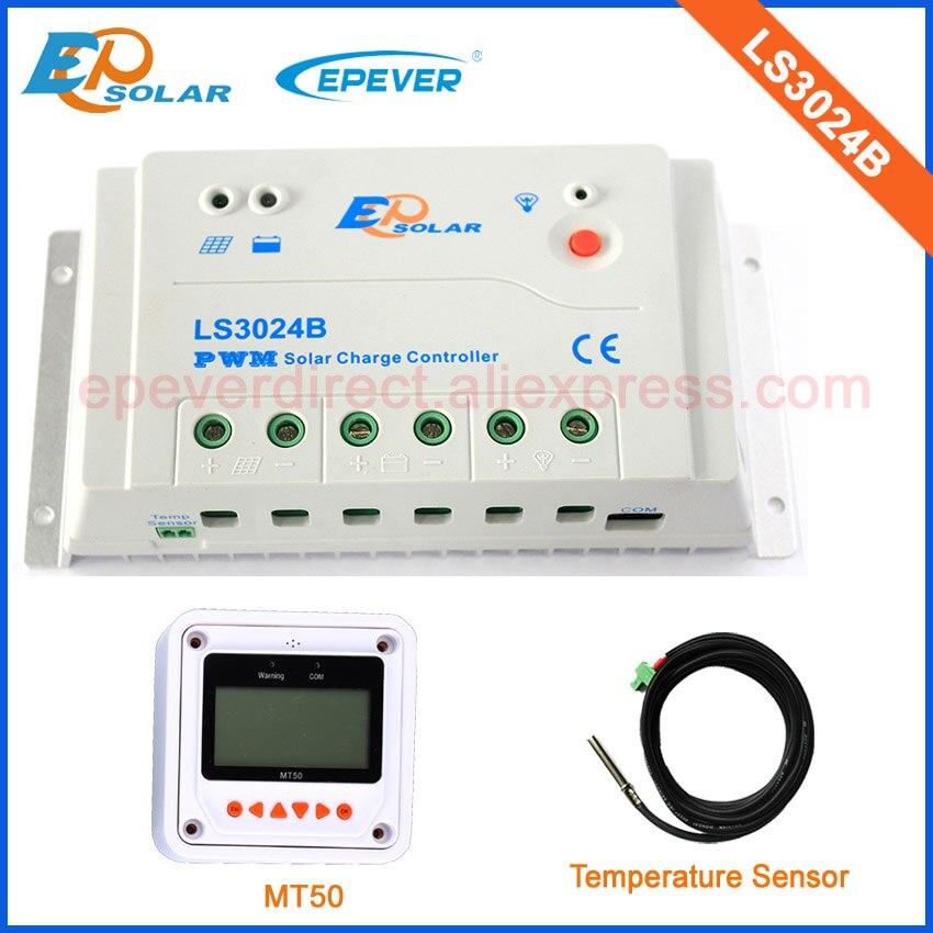 Travail automatique 12 v 24 v LS3024B 30a 30amp avec capteur de température régulateurs de panneaux solaires EPsolar MT50 accessoires de compteurs à distance