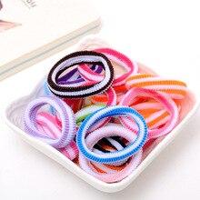 Диаметр 4,5 см, 1 шт./лот, разноцветные милые эластичные резинки для волос, Детские аксессуары для волос для маленьких девочек, веревочный головной убор