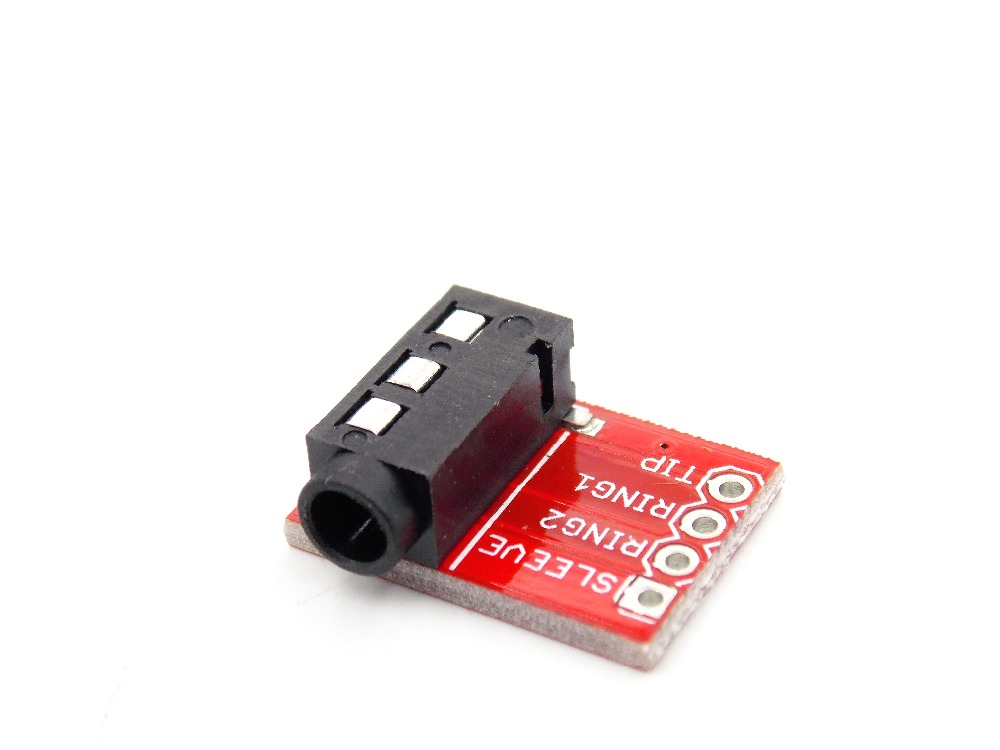 3.5mm CJMCU-TRRS audio block MP3 stereo earphone video microphone interface module ...