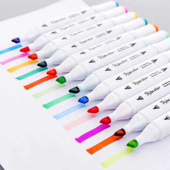 24 36 Color Art Markers drawing pen Set fine broad Dual Headed Sketch Alcohol ink based Manga draw supplies copic school 1MS01 - DISCOUNT ITEM  18% OFF All Category