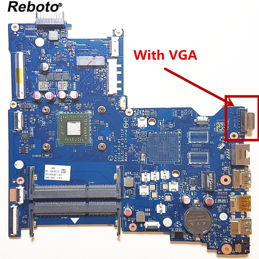 For HP 255 G5 Series Laptop Motherboard With AMD E2 7110 CPU 858589 601 BDL51 LA D711P MainBoard 100% Tested Fast Ship-in Laptop Motherboard from Computer & Office    1