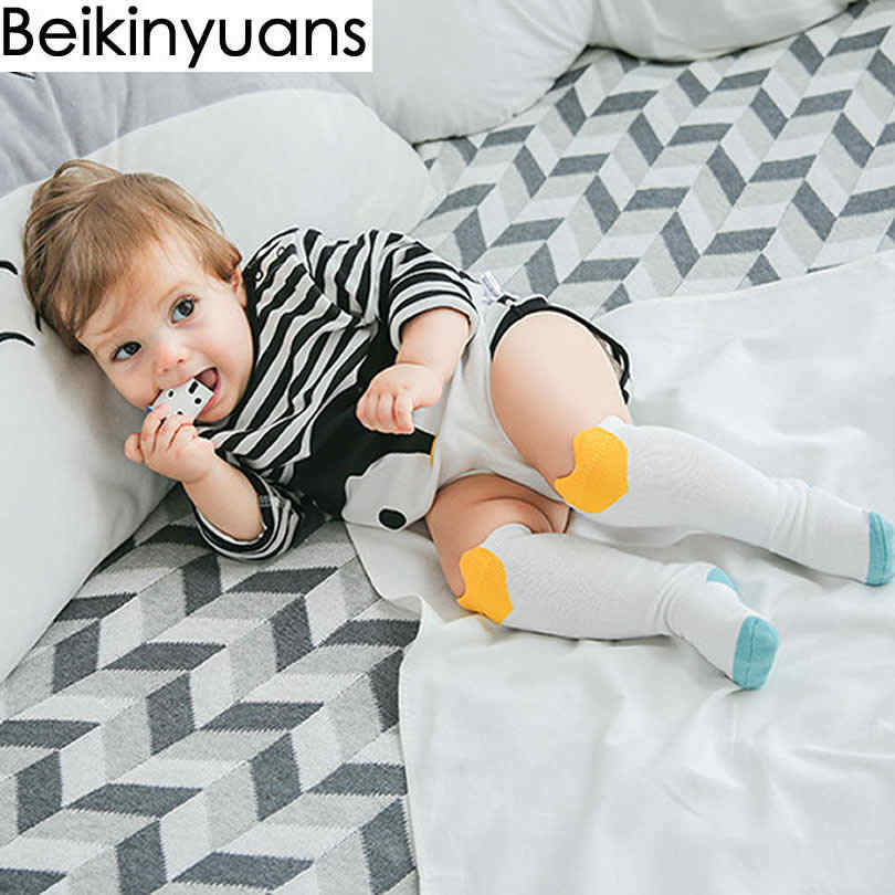 f0ccf1384a5 ... Baby Socks Winter Cotton Knee High Girls Socks Children Three-Dimensional  Panda Print Loose Tube ...