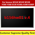 Envío libre 15.6 pulgadas LCD portátil de pantalla A + B156HW01 V.4 B156HW02 V.1 B156HW01 V.7 B156HW01 V.1 LP156WF1 TLA1 LP156WF1 TLC1