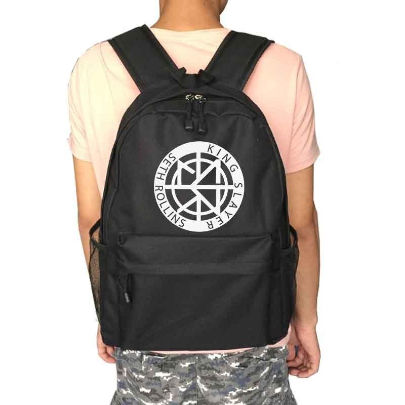 Сет Роллинс борьба Рюкзак Школьные сумка рюкзак ежедневно мужские и женские рюкзаки Тетрадь рюкзак