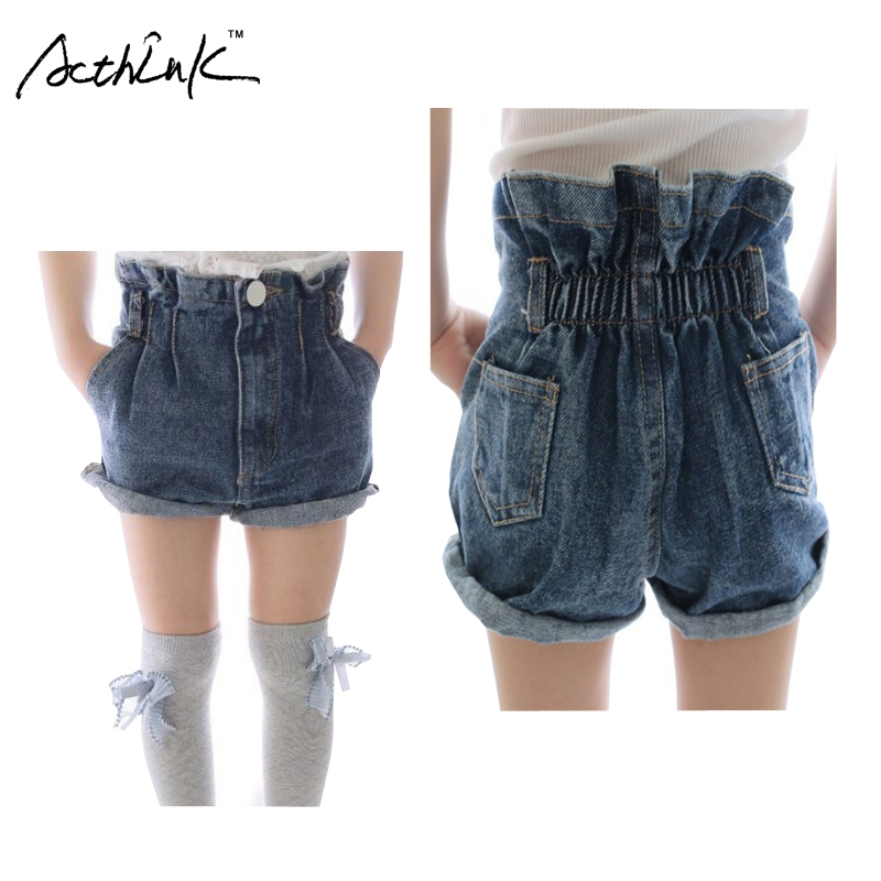 Online Buy Wholesale kids high waisted denim shorts from China ...