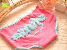 2015 Top Hot Brand Calvin Girl Briefs Smile Letter Sexy Cotton Candy Color Underwear Women Panties Cute Women Briefs 6NK013