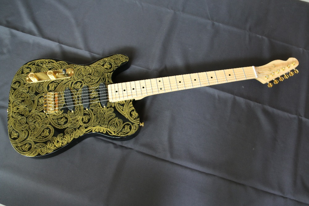 High Quality Left handed Paisley Tele cast Electric guitar Guitarra Free Shipping