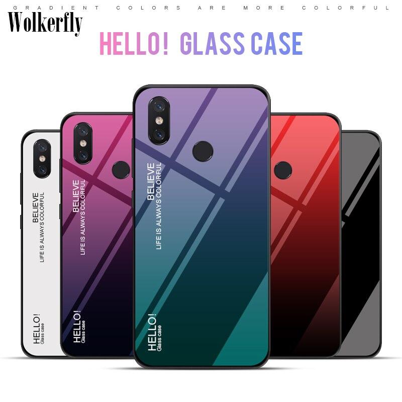 Gradient Tempered Glass Phone Case For Xiaomi Mi 8 SE A1 A2 Lite Max 3 Mix  3 Redmi 6A 5 Plus S2 On Redmi Note 7 5 6 Pro 4X Case 59e2c340c3bf