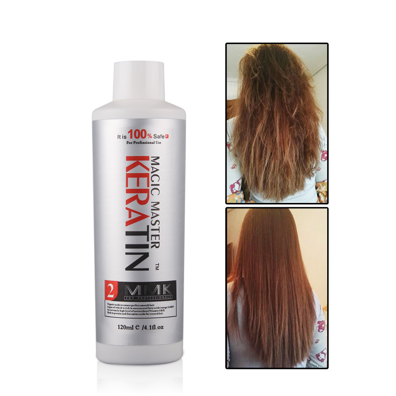 Купить с кэшбэком MMk 120ml Keratin Hair Straightener Without Formaldehyde curly hair products Coconut Smell Hair Treatment with Travel Suit