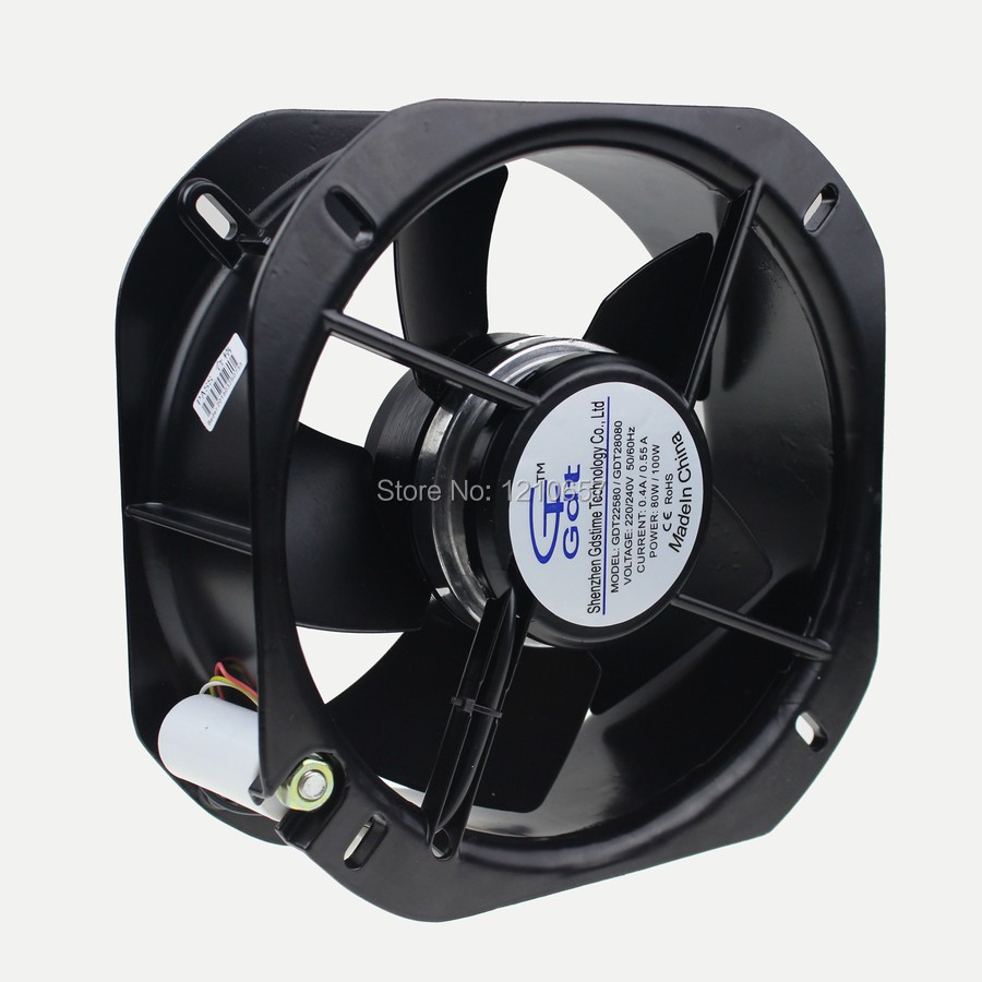 1 Pieces 225x80mm 225mm New Case Cooler 2Wire 220V 240V Air Flow Exhaust AC Cooling Fan бу шины екатеринбург 235 75 r15 225 80