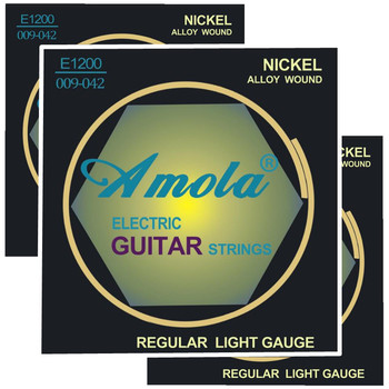 Amola 3sets/Pcs E1200 .009-.042 Electric Guitar Strings Sales Guitar Accessories image