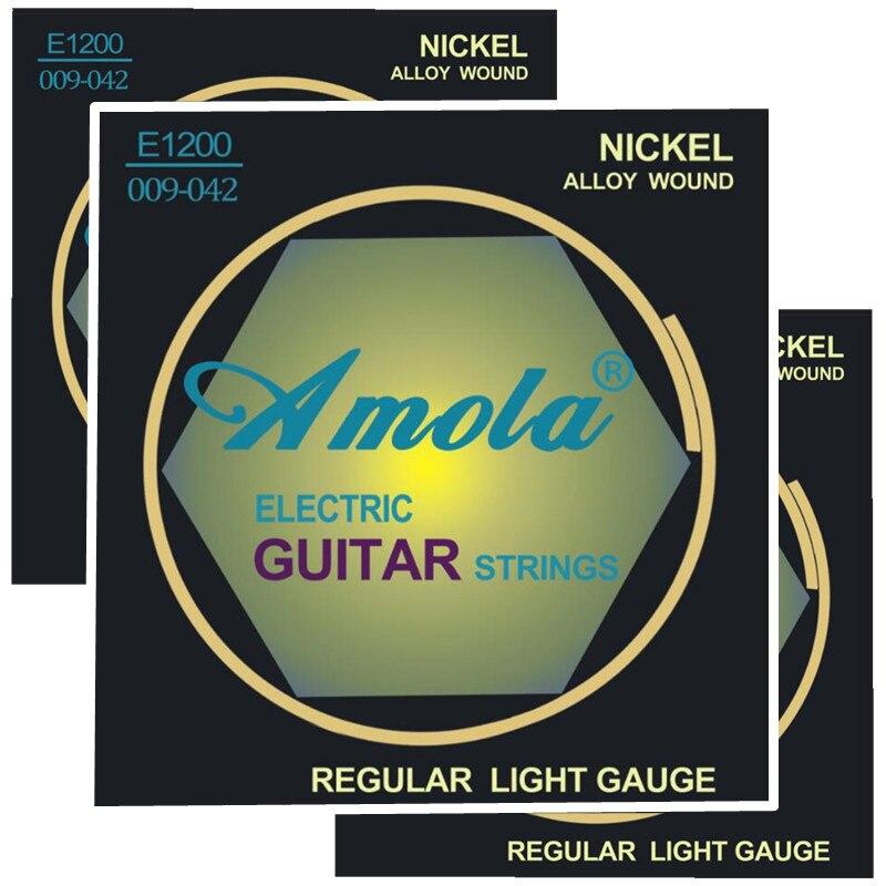 Amola 3sets / pcs E1200 .009-.042 Gitaar snaren Hete verkoop gitaaraccessoires gitaar onderdelen