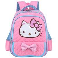 Cute Cartoon Hello Kitty Backpacks Kids Satchel Children School Bags For Girls Orthopedic Waterproof Backpack Mochila
