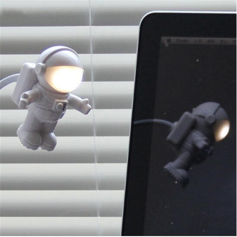 USB Spaceman Astronaut LED light flexible USB for computer laptop ipad keyboard