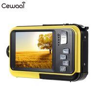 Cewaal 2,7 ''ЖК-дисплей двойной Экран видеокамера 24MP 16X зум цифровой Камера фотографии 24MP 16x Zoom HD цифровой Камера Водонепроницаемый