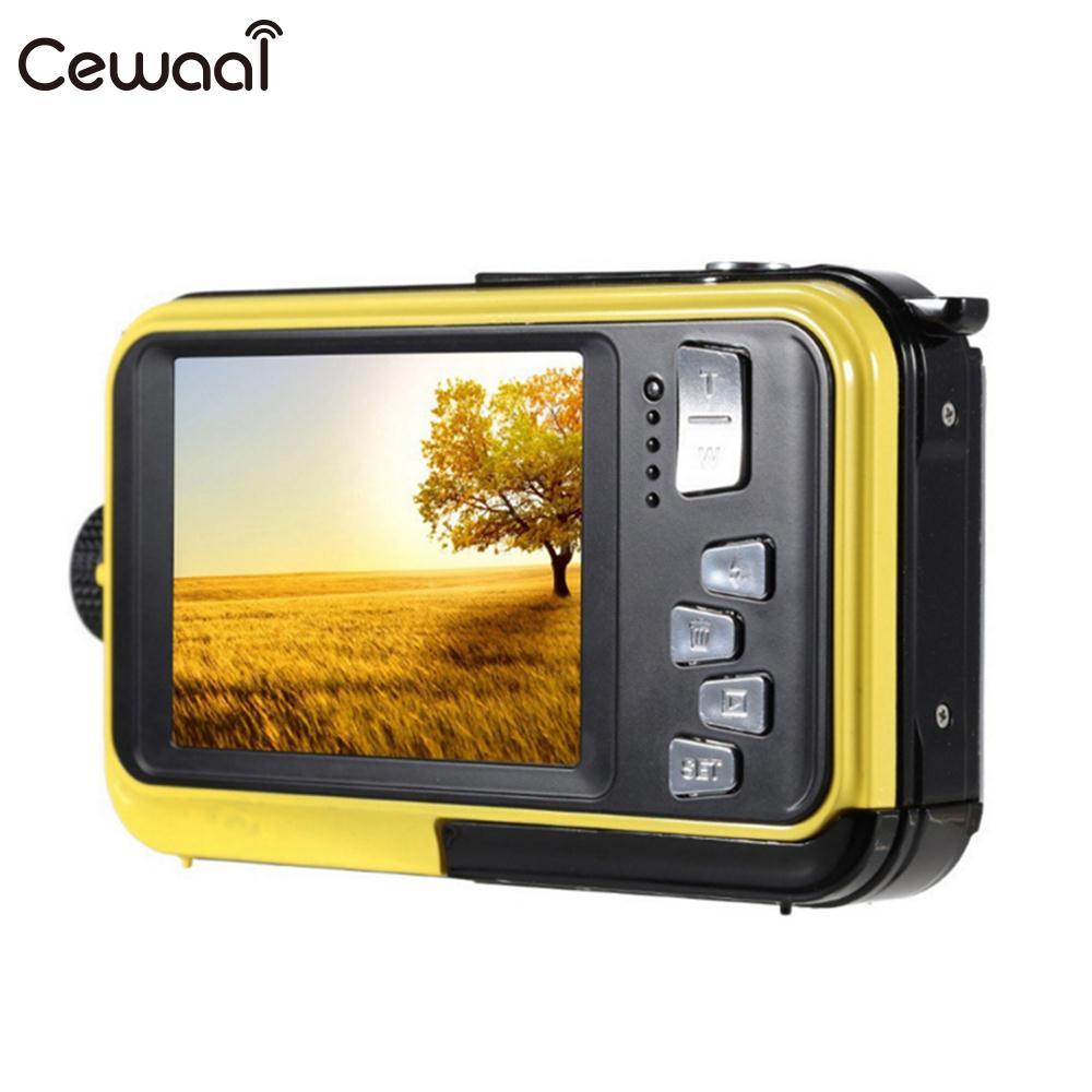 Cewaal 2.7 ''LCD Double écran caméscope 24MP 16X Zoom appareil photo numérique photographie 24MP 16x Zoom HD appareil photo numérique étanche