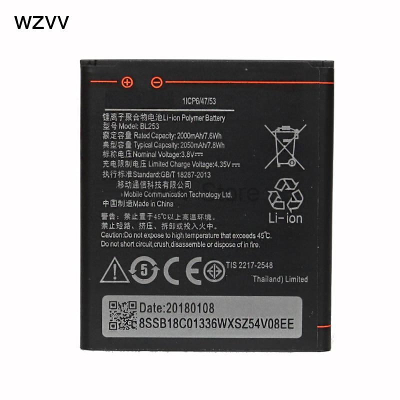 Wzvv BL253 2000 mAh Batterie Pour Lenovo A2010 A2580 A2860 Vibe Un 4.0 A1000 A1000m Mobile Batteries de Téléphone + code de Suivi Valide