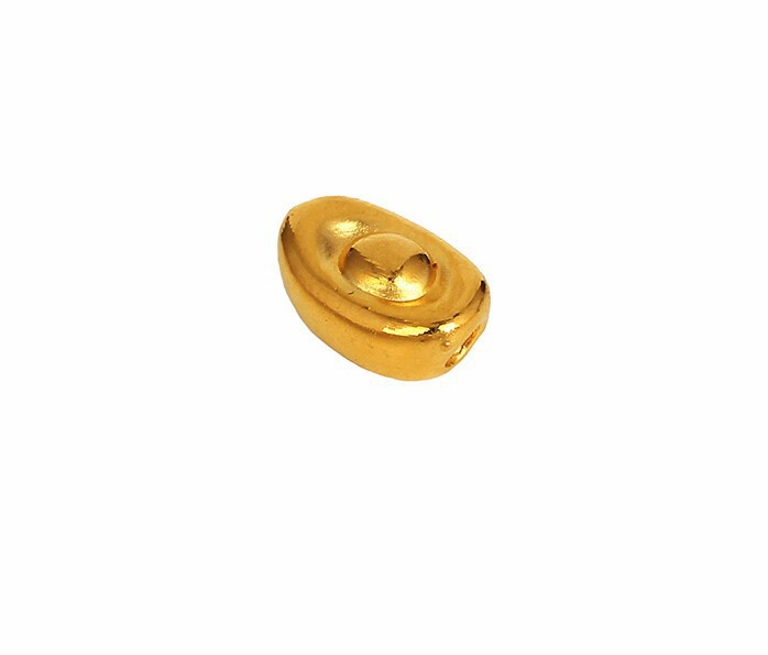 New Arrival Solid 3D 24K Yellow gold Lucky Yuan Bao Pendant