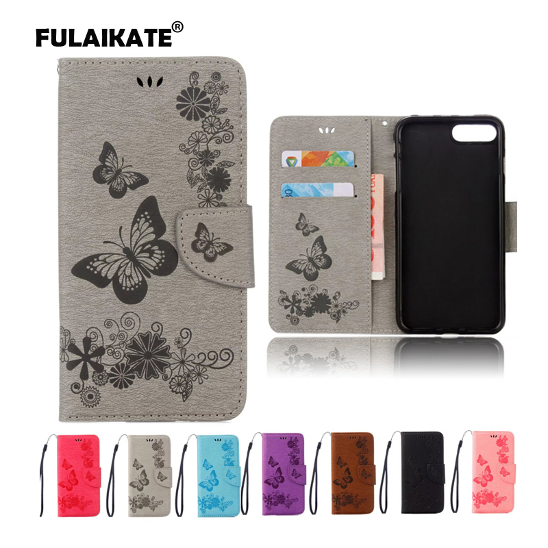 "FULAIKATE ανάγλυφη δερμάτινη θήκη για iPhone6 ​​6s Butterfly Stand Back Cover για iPhone 6 4.7 ""Wallet Holster Mt Phone Cases"
