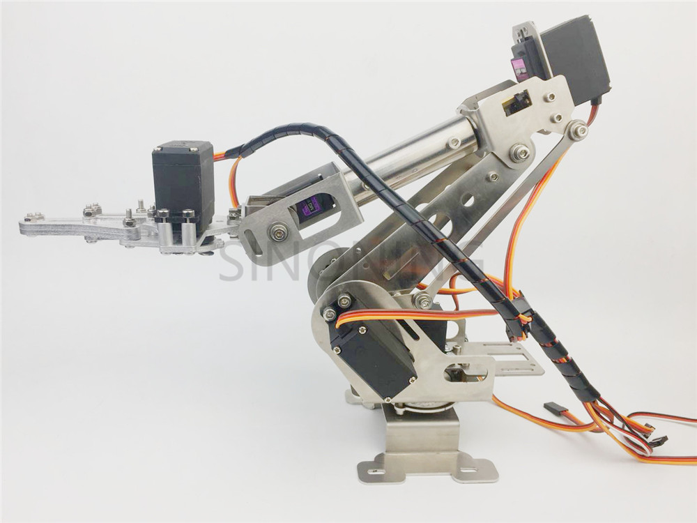 New 6DOF robotic Arm claw stainless steel 6 Axis Clamp Rotating Mechanical for Arduino Raspberry 6dof robotic aluminium robot arm clamp claw