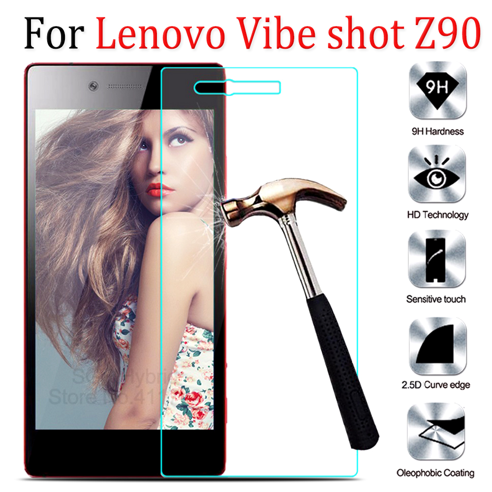 2pcs For Lenovo Z90 Glass Tempered New Anti-explosion 9H screen Protector For Lenovo Vibe Shot Z90 Z 90 protective Film Cover