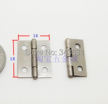 100PCS/LOT  High Quality Stainless Steel 4 Holes Door Hinge 18*16 Thickness 0.5mm