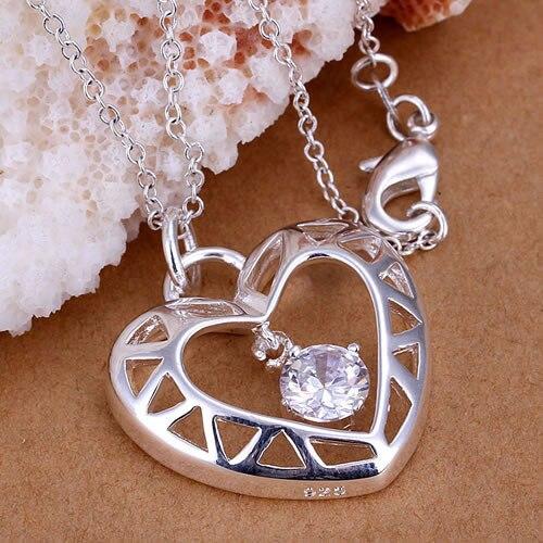 d9089aebb1be ჱ925 joyería de plata colgantes collar Cadenas