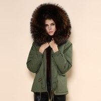 Кофе воротник hat марки Высокое качество одежды енота меховым воротником куртка зимнее пальто в Китае