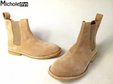 Classical Vintage Chelsea Boots Handmade All-matching Kanye West Boots Crepe Bottom Casual Platform High Men's Shoes Botas