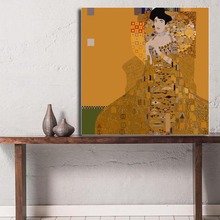 Klimtes Portrait of Adele Bloch-Bauer Wall Art Canvas Painting Poster Oil Print Picture for Living Room Home Decoration