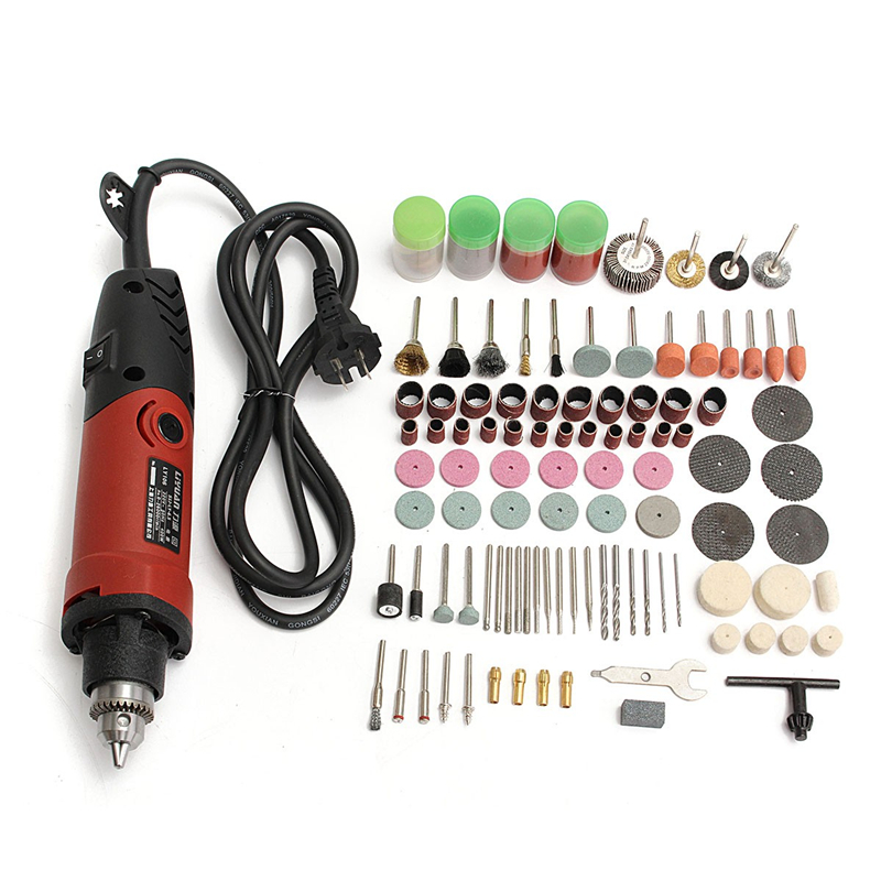 400W 220V Dremel Type Mini Electric Drill Grinder Variable Speed Rotary Grinding And Polishing Tool With 161pcs Accessories