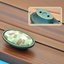 16mm creative fashion vintage tracery ceramic furniture knob bronze drawer cabinet knob antique brass dresser door pull handle